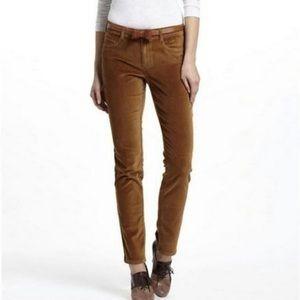 Pilcro brown velvet Serif pants